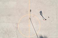 La Raza near insurgentes norte. aerial drone photography/footage, Mexico City, Mexico