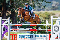 NZL-Georgia Bouzaid rides Redcliffs Bill. Class 24 Country TV Pony Premier Grand Prix. 2020 NZL-Collinson Forex Premier Show Jumping At Woodhill Sands. Helensville. Sunday 12 January. Copyright Photo: Libby Law Photography