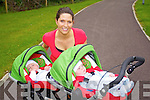 Fiona Costello who does Buggy running classes pictured with her four month old boys Tommy, and Hugh. .