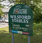 Seamus Mullins racehorse training stables, Wilsford Stables, Wilsford cum Lake, Wiltshire, England, UK