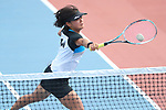 Misaki Hangai (JPN), <br /> AUGUST 27, 2018 - Soft Tennis : <br /> Training session<br /> at Jakabaring Sport Center Tennis Courts <br /> during the 2018 Jakarta Palembang Asian Games <br /> in Palembang, Indonesia. <br /> (Photo by Yohei Osada/AFLO SPORT)