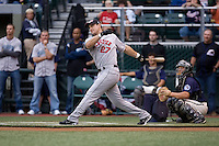July 13, 2009: Rochester Red Wings' Justin Huber during the 2009 Triple-A All-Star Home Run Derby at PGE Park in Portland, Oregon.