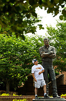 At Dale Earnhardt Plaza, the centerpiece attraction is a 9-foot, 900-pound bronze statue of Earnhardt. In the heart of Cannon Village in Earnhardt's hometown of Kannapolis, Dale's boyhood friends and neighbors celebrate the life and career of this NASCAR legend.  <br /> <br /> Charlotte Photographer - PatrickSchneiderPhoto.com