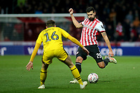 Yoann Barbet of Brentford in action during Brentford vs Oxford United, Emirates FA Cup Football at Griffin Park on 5th January 2019