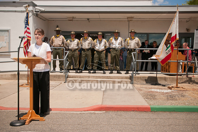 """Last open house and lowering of the U.S. flag at Preston Youth Correctional Facility, Ione, Calif., in anticipation of """"cold"""" closure, June 30, 2011 after 117 years of state service."""