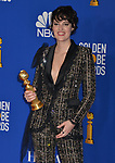 Phoebe Waller-Bridge 137 poses in the press room with awards at the 77th Annual Golden Globe Awards at The Beverly Hilton Hotel on January 05, 2020 in Beverly Hills, California.