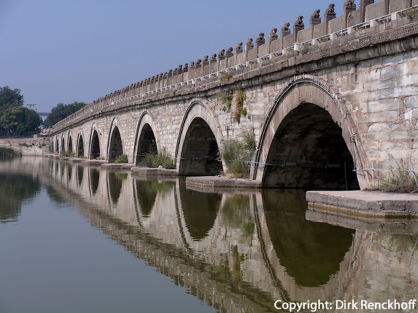 MarcoPolo-Br&uuml;cke in Peking, China, Asien<br /> MarcoPolo-bridge, Beijing, China, Asia