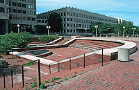 Boston:  City Hall Plaza--an open-air theater?  1968.  Photo '91.