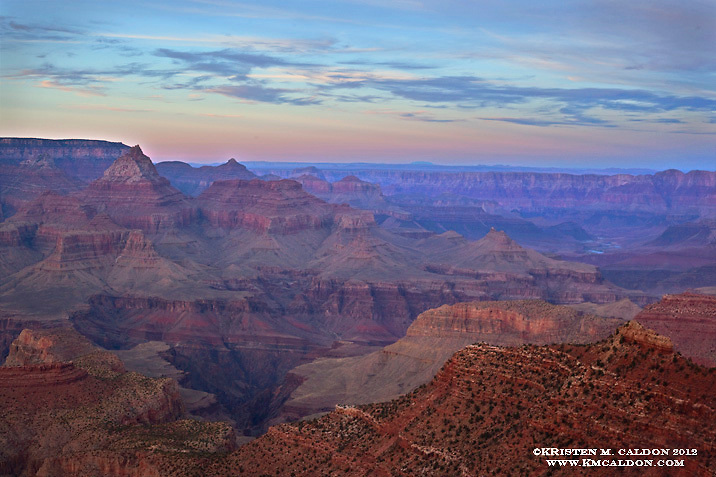 Sunset from the Grandview Trail.<br />