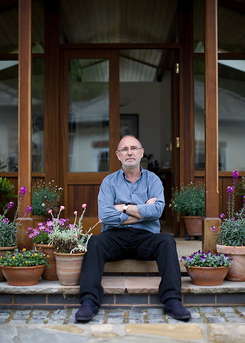 LIVERPOOL, UK - Jimmy McGovern, BAFTA award-winning television scriptwriter, at home. McGovern is the creator of some of the finest English television dramas of recent times, including Cracker, Hillsborough, Sunday and The Street.