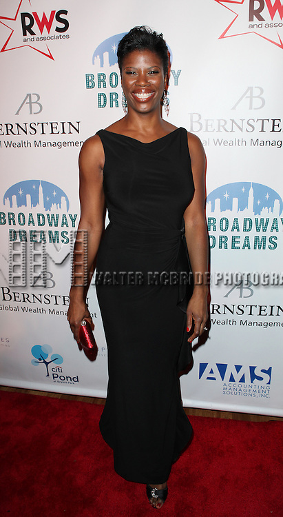 Deidre Goodwin attending the Broadway Dreams Foundation's 'Champagne & Caroling Gala' at Celsius at Bryant Park, New York on December 10, 2012