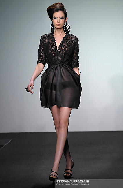 Italian fashion designer Nino Lettieri featured at Rome Fashion Week,Fashion show. Presentation of S/S 2013.Italian Haute Couture collection, January 28, 2013