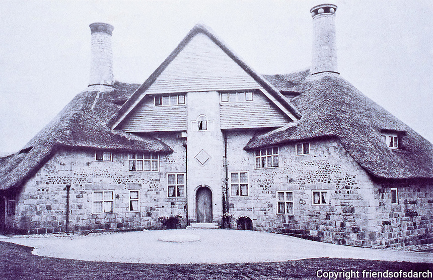 E.S. Prior: The Barn, Exmouth, Devon, 1897. Arts & Crafts style. Seaside house, now a hotel.