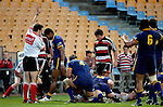 Refeere Jonathon White awards a try to Kristian Ormsby during the Air NZ Cup game between Counties Manukau & Otago played at Mt Smart Stadium,Auckland on the 29th of July 2006. Otago won 23 - 19.