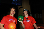 One Life To Live's Eddie Alderson and Lenny Platt at the Daytime Stars and Strikes Charity Event to benefit the American Cancer Society at the Bowlmore Lanes, New York City, New York. (Photo by Sue Coflin/Max Photos)