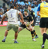 January 7th 2018, Ricoh Arena, Coventry, England;  Aviva Premiership rugby, Wasps versus Saracens; James Gaskell (Wasps)  in action for Wasps during the Aviva Premiership (Round 13) match between Wasps and Saracens rfc at the Ricoh Stadium