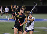 Maryland's Zoe Stukenberg (15) against Penn State on April 20, 2017. No. 1 Maryland defeated No. 5 Penn State 16-14.  Photo/Craig Houtz