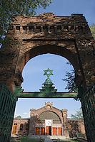 Europe/Pologne/Lodz: le cimetière juif avec ses 160000 tombes sur 41 ha - Entrée du cimetière