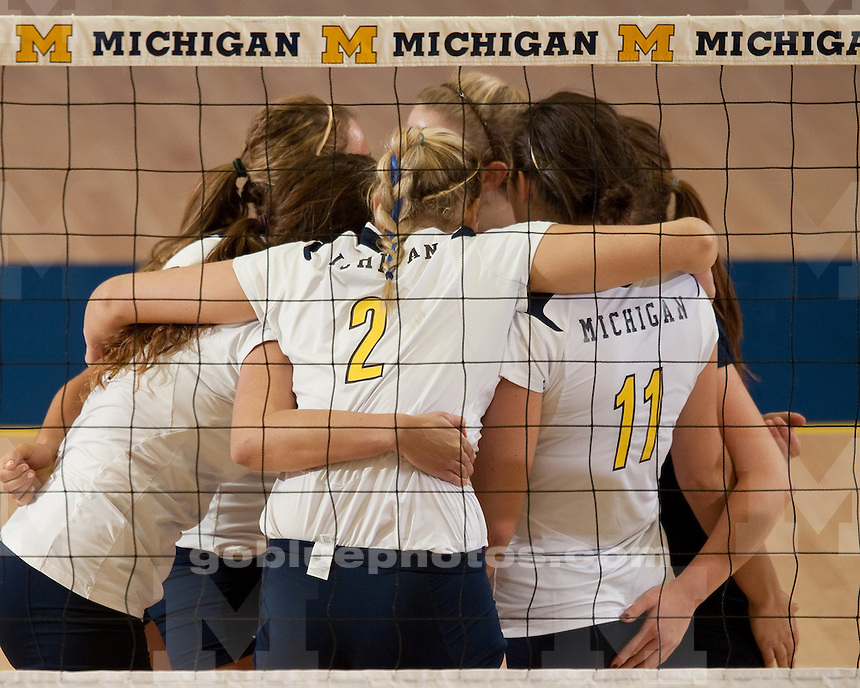 The University of Michigan volleyball team fell to No. 11 Purdue, 3-2, at Cliff Keen Arena in Ann Arbor, Mich., on October 28, 2011.
