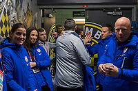 COLUMBUS, OH - NOVEMBER 07: Vlatko Andonovski of the United States leaves the locker room during a game between Sweden and USWNT at Mapfre Stadium on November 07, 2019 in Columbus, Ohio.