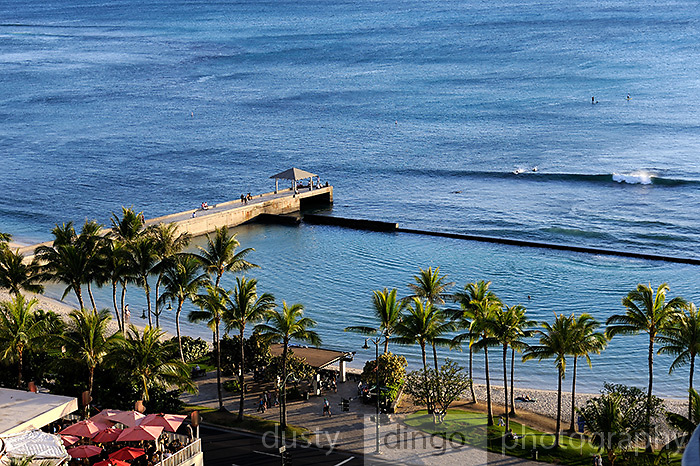Aerial view of section of Waikiki Beach. Honolulu, Hawaii RIGHTS MANAGED LICENSE AVAILABLE FROM www.PhotoLibrary.com
