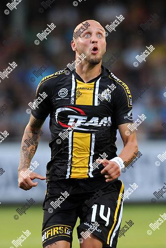 2014-07-26 / Voetbal / seizoen 2014-2015 / KVC Westerlo - Sporting Lokeren / Jordan Remacle<br /><br />Foto: mpics.be