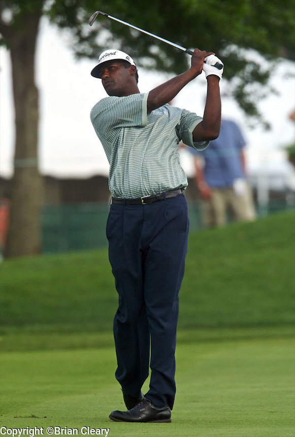 Vijay Singh in action at the Bay Hill Invitational at Arnold Palmer's Bay Hill Club & Lodge in Orlando, FL in March 2003. (Photo by Brian Cleary / www.bcpix.com)