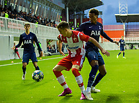 6th November 2019; Vozdovac Stadium, Belgrade, Serbia; UEFA Under 19 UEFA Youth league football, FK Crvena Zvezda under 19s versus Tottenham Hotspur under 19s; Tashan Oakley-Boothe of Tottenham Hotspurs FC is held off the ball