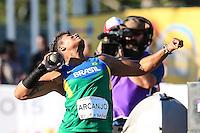 TORONTO, CANADÁ, 22.07.2015 - PAN-ATLETISMO - Geisa Arcanjo durante lancamento de bola no atletismo nos Jogos Panamericanos na cidade de Toronto no Canadá, nesta quarta-feira, 22 (Foto: Vanessa Carvalho/Brazil Photo Press)