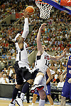 USA's Kevin Love (r) and Carmelo Anthony during friendly match.July 24,2012. (ALTERPHOTOS/Acero)