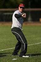 9 April 2007: Scott Shafer during spring practice in Stanford, CA.