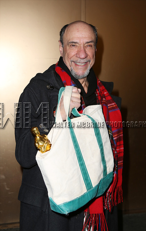 F. Murray Abraham, with his Academy Award,  and the cast from 'It's Only A Play' head to their new home at the Bernard B. Jacobs Theatre on January 23, 2014 in New York City.