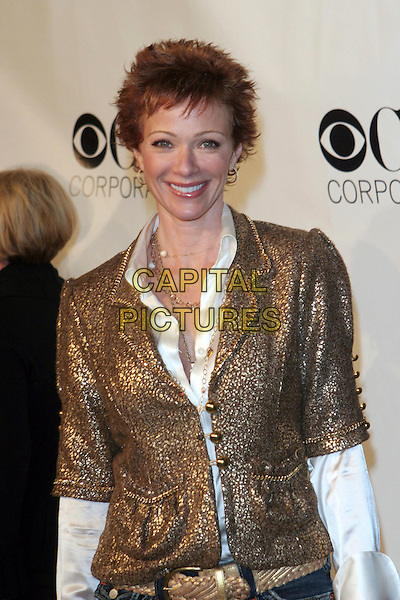 LAUREN HOLLY.CBS, Paramount, UPN, Showtime, and King World 2006 TCA Winter Press Tour Party - Arrivals held at the Wind Tunnel, Pasadena, California..January 18th, 2006.Photo: Zach Lipp/AdMedia/Capital Pictures.Ref: ZL/ADM.half length gold jacket.www.capitalpictures.com.sales@capitalpictures.com.© Capital Pictures.