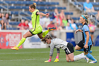Chicago, IL - Sunday Sept. 04, 2016: Alyssa Naeher, Manon Melis during a regular season National Women's Soccer League (NWSL) match between the Chicago Red Stars and Seattle Reign FC at Toyota Park.