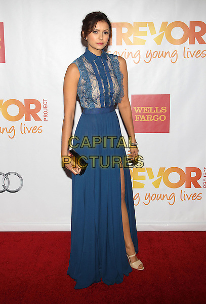 HOLLYWOOD, CA - DECEMBER 08: Nina Dobrev at the TrevorLIVE Los Angeles Benefit celebrating The Trevor Project's 15th anniversary at the Hollywood Palladium on December 8, 2013 in Hollywood, California.CAP/ADM/KB<br /> &copy;Kevan Brooks/AdMedia/Capital Pictures