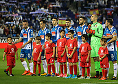 30th October 2017, Cornella-El Prat, Cornella de Llobregat, Barcelona, Spain; La Liga football, Espanyol versus Real Betis; Espanyol players line up on the pitch