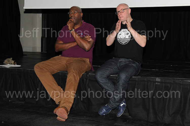 """Film director Cass Pennant at the Red House question and answer session following the showing of his short film """"Bevereley"""" during the Merthyr Rising Festival 2016 in Merthyr Tydfil on Saturday June 4th and Sunday June 5th 2016. <br /> <br /> <br /> Jeff Thomas Photography -  www.jaypics.photoshelter.com - <br /> e-mail swansea1001@hotmail.co.uk -<br /> Mob: 07837 386244 -"""