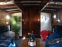 BNPS.co.uk (01202 558833)<br /> Pic: MattCain/BNPS<br /> <br /> The interior after the restoration project. <br /> <br /> A lifeboat which was present at Dunkirk is set to sail there on the 80th anniversary of the mass evacuation after being painstakingly restored.<br /> <br /> The Lady of Mann was lifeboat number eight on board the passenger ship RMS Lady of Mann, which brought 4,262 men back to England in May 1940.<br /> <br /> It was also on the Isle of Man Steam Packet Company vessel when it carried six landing craft, 55 officers and 435 troops to Juno Beach on D-Day in June 1944.<br /> <br /> After the ship was broken up in 1971, the 27ft lifeboat was sold off and converted into a fishing boat which operated out of Maldon, Essex. It had been languishing in a rotting, dilapidated state in an Essex boatyard when IT manager Matt Cain paid £3,000 for it in 2009 after spotting it for sale online.<br /> <br /> The boat sank at its mooring in Windsor, Berks, during the floods of February 2014. Since then, Mr Cain, whose grandfather was evacuated at Dunkirk, has spent over £30,000 returning it to its former glory.
