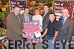 GARVEYS FOOD FAIR: Launching the Garvey's SuperValu Food and Wine Fair in conjunction with Tralee Lions Club in aid of the Tralee Branch of M.S. to be held on the 9th of December at 8pm at the Carlton hotel at Garvey's SuperValu, Tralee on Friday l-r: Ted Cronin (Tralee MS & Garvey's), Kevin O'Connor (Store manager Garvey's), Hanah Lynch (Tralee MS treasurer), Pat Crean (Tralee Lions Club), Danny McElligott (Tralee MS) and Mark Bennett (President Tralee Lions Club).