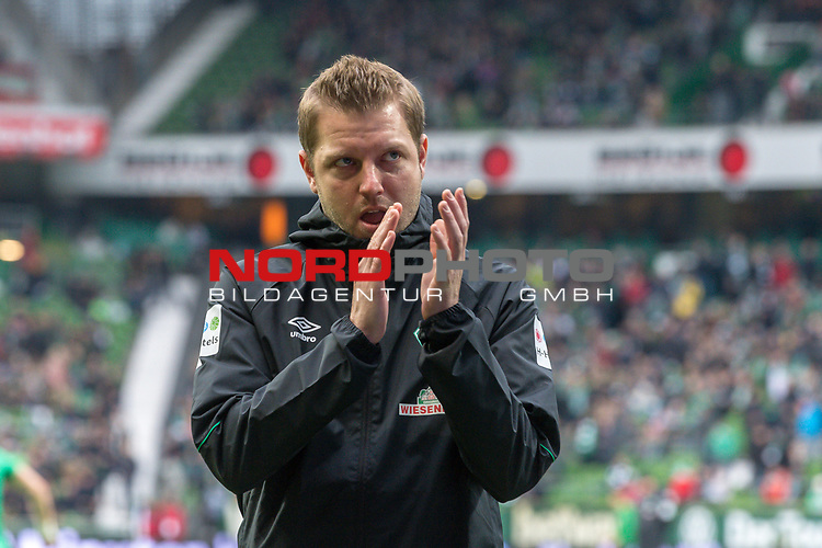 10.02.2019, Weser Stadion, Bremen, GER, 1.FBL, Werder Bremen vs FC Augsburg, <br /> <br /> DFL REGULATIONS PROHIBIT ANY USE OF PHOTOGRAPHS AS IMAGE SEQUENCES AND/OR QUASI-VIDEO.<br /> <br />  im Bild<br /> <br /> Florian Kohfeldt (Trainer SV Werder Bremen)<br /> <br /> Foto &copy; nordphoto / Kokenge