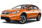 Stock pictures of low aggressive front three quarter view of 2015 Subaru XV-Crosstrek Premium 5 Door SUV Low Aggressive