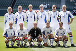 24 July 2005: Iceland starting eleven. The United States defeated Iceland 3-0 at the Home Depot Center in Carson, California in a Women's International Friendly soccer match.