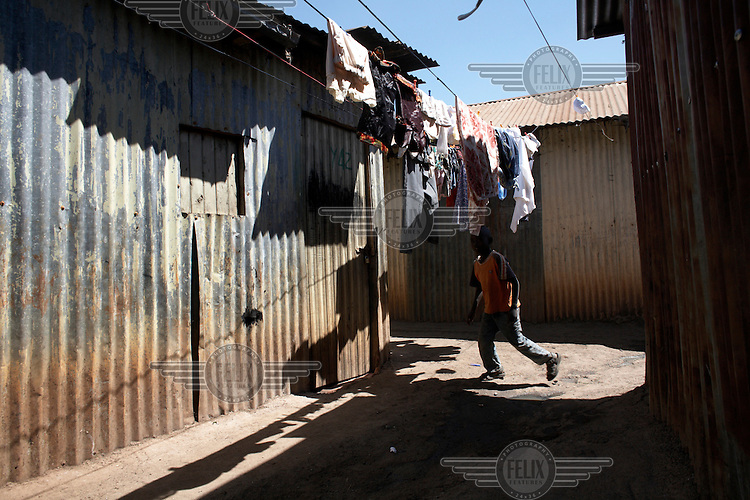 The Kawangware slum in Nairobi.