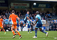 Luke O'Nien of Wycombe Wanderers during the Sky Bet League 2 match between Wycombe Wanderers and Blackpool at Adams Park, High Wycombe, England on the 11th March 2017. Photo by Liam McAvoy.