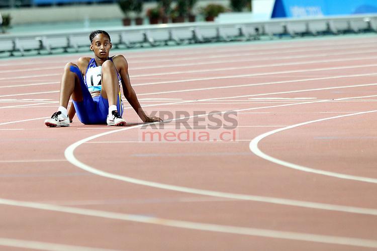 Nanjing-China. Competencias de Atletismo que se realizó en el complejo del Estadio Nacional por los Juegos Olímpicos de la Juventud Nanjing 2014 <br /> Fotografía: Ernesto Zelada - Xpress Media