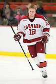 Colin Moore (Harvard - 12) is announced as a starter. - The Harvard University Crimson defeated the visiting Yale University Bulldogs 8-2 in the third game of their ECAC Quarterfinal matchup on Sunday, March 11, 2012, at Bright Hockey Center in Cambridge, Massachusetts.