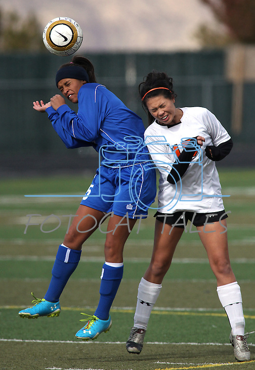 Images from the girls soccer zone championship between Carson and Douglas at Damonte Ranch High School in Reno, Nev. on Saturday, Nov. 5, 2011 . Carson won 2-1..Photo by Cathleen Allison