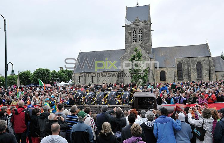 Picture by Simon Wilkinson/SWpix.com - 30/06/2016 - Cycling Tour de France 2016 Team Presentation Sainte-Mere-Eglise, Utah Beach Museum<br /> <br /> copyright picture - Simon Wilkinson - simon@swpix.com