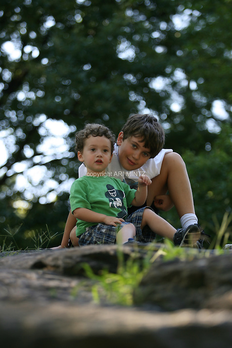 Zeke and Joseph.  Photo by Ari Mintz.  8/3/2011.
