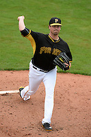 Pitcher Vin Mazzaro (32) of the Pittsburgh Pirates during a spring training game against the New York Yankees on February 26, 2014 at McKechnie Field in Bradenton, Florida.  Pittsburgh defeated New York 6-5.  (Mike Janes/Four Seam Images)